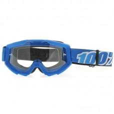 Маска 100% STRATA Moto Goggle Blue Lagoon Clear Lens