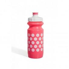 Фляга Green Cycle Polka Dot с Big Flow valve, LDPE light pink nipple/ white matt cap/light pink matt bottle