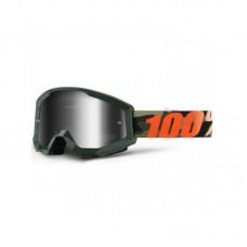 Маска 100% STRATA Goggle Huntsitan Mirror Silver Lens, 50410-234-02